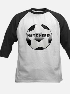 Personalized Name Soccer Ball Kids Baseball Jersey