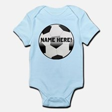 Personalized Name Soccer Ball Infant Bodysuit