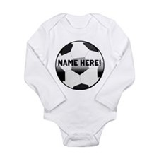 Personalized Name Soccer Ball Long Sleeve Infant B