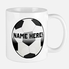 Personalized Name Soccer Ball Mug