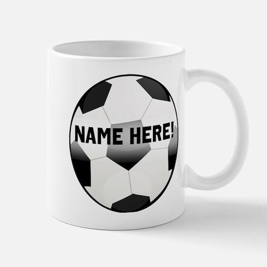 Personalized Name Soccer Ball Mug