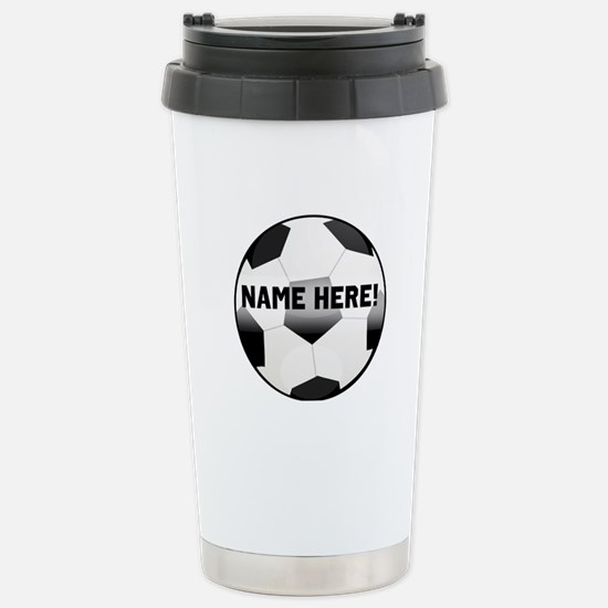 Personalized Name Soccer Ball Stainless Steel Trav
