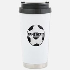 Personalized Name Soccer Ball Travel Mug