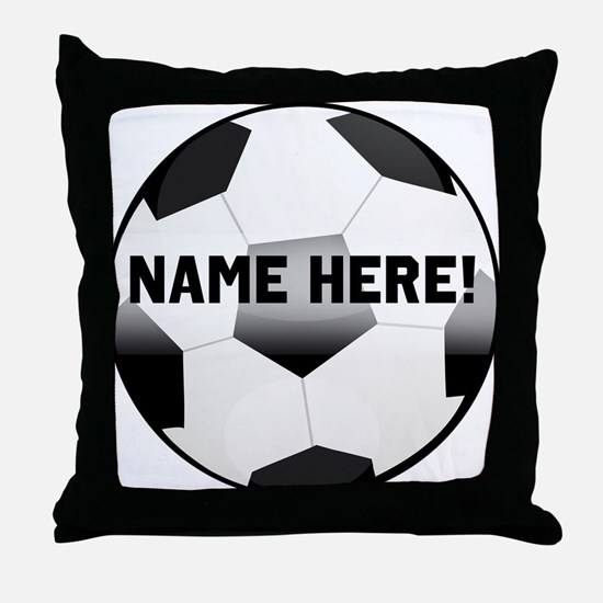 Personalized Name Soccer Ball Throw Pillow