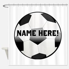 Personalized Name Soccer Ball Shower Curtain
