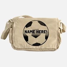 Personalized Name Soccer Ball Messenger Bag