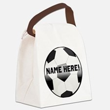 Personalized Name Soccer Ball Canvas Lunch Bag