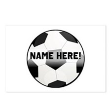 Personalized Name Soccer Ball Postcards (Package o