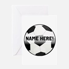 Personalized Name Soccer Ball Greeting Card