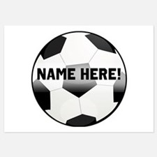 Personalized Name Soccer Ball Invitations