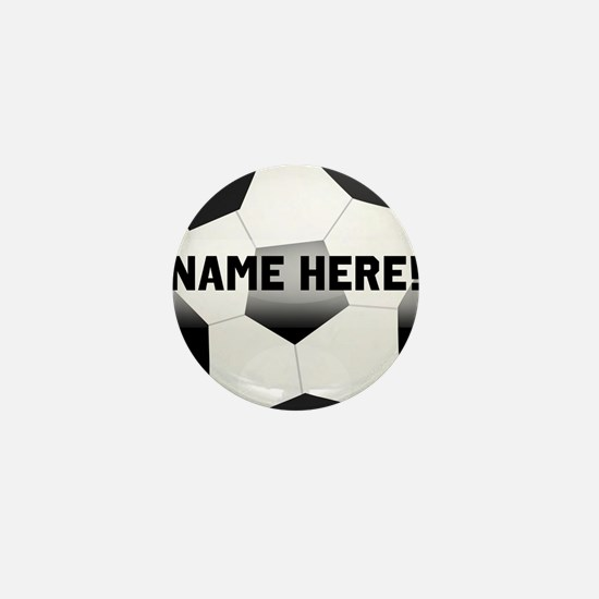 Personalized Name Soccer Ball Mini Button