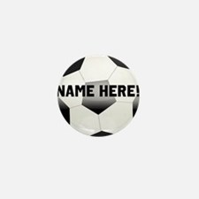 Personalized Name Soccer Ball Mini Button (10 pack