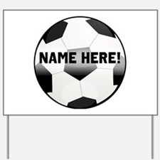 Personalized Name Soccer Ball Yard Sign