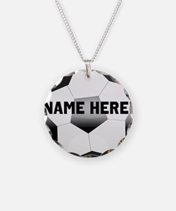 Personalized Name Soccer Ball Necklace