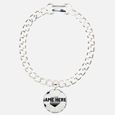 Personalized Name Soccer Ball Bracelet