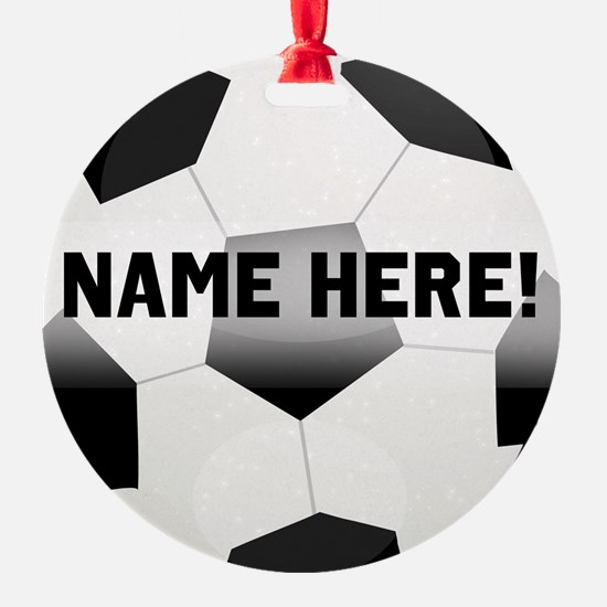 Personalized Name Soccer Ball Ornament
