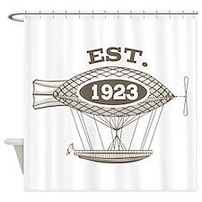 Vintage Birthday Est 1923 Shower Curtain