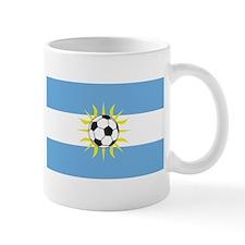 soccer flag-Argentina Mug