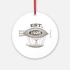 Vintage Birthday Est 1925 Ornament (Round)