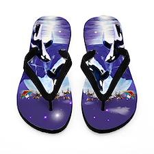 Orca Christmas Oval Flip Flops