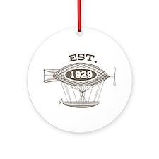 Vintage Birthday Est 1929 Ornament (Round)