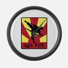 High Five Large Wall Clock