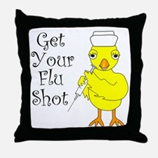 Nurse Flu Shot Chick Throw Pillow