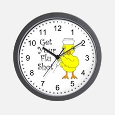 Nurse Flu Shot Chick Wall Clock