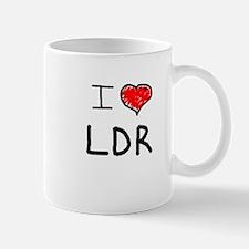 i love LDR Mugs