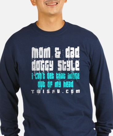 MOM DAD - TEAL Long Sleeve T-Shirt