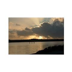 Sunrise in Tasmania Rectangle Magnet (10 pack)