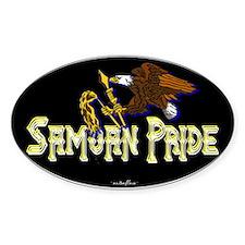 Samoan Pride Oval Decal