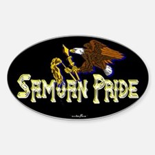 Samoan Pride Oval Decal