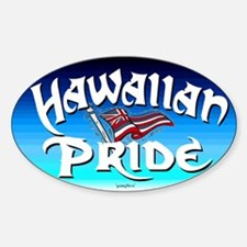 Hawaiian Pride Oval Bumper Stickers