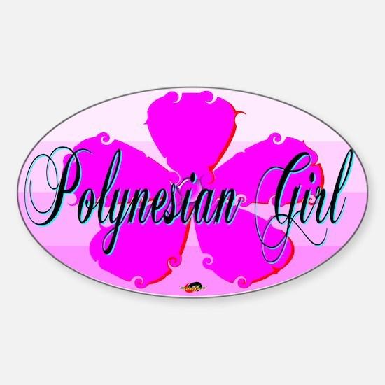 Polynesian Girl Oval Decal