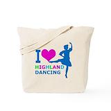 Highland dance Canvas Bags