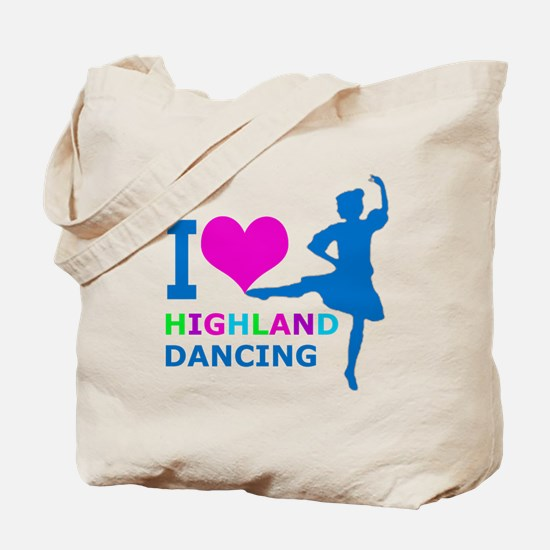 I LOVE highland dancing pink blue green purple Tot