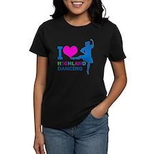 I LOVE highland dancing pink blue green purple T-S