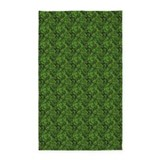 Green leaves 3x5 Rugs
