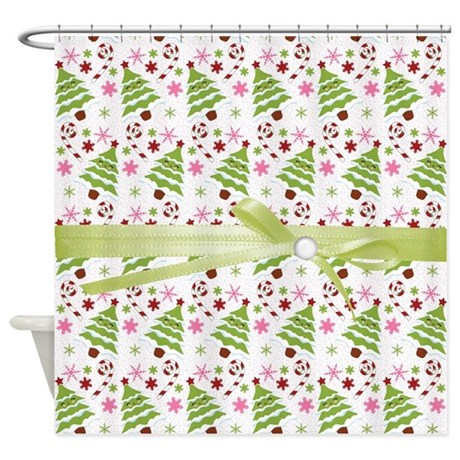 Whimsical Christmas Trees Shower Curtain By Alittlebitofthis1