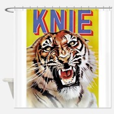 Tiger, Knie, Circus, Vintage Poster Shower Curtain