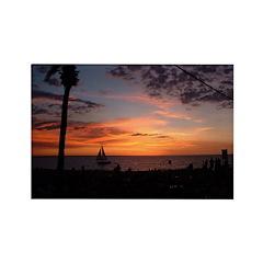 Dawin Sunset Rectangle Magnet