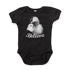 Santa Claus Believe Baby Bodysuit