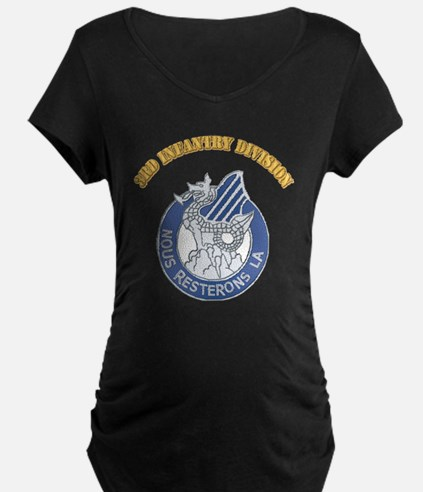 DUI - 3rd Infantry Division with Text T-Shirt