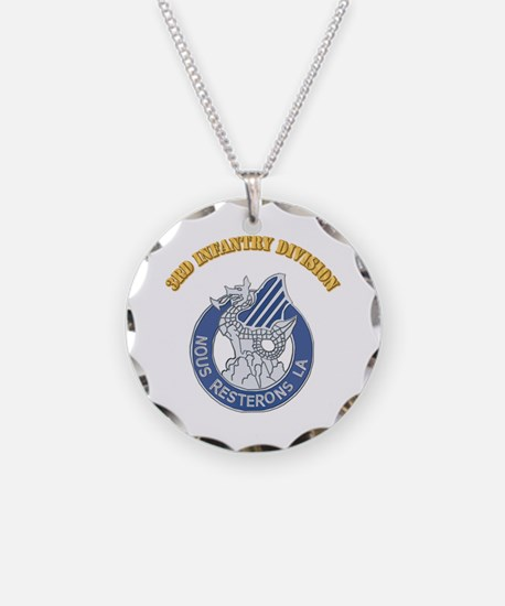 DUI - 3rd Infantry Division with Text Necklace