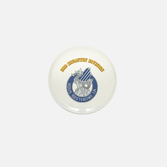 DUI - 3rd Infantry Division with Text Mini Button