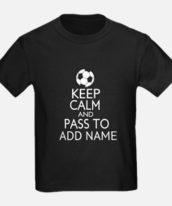 personalized funny football keep calm soccer t shi