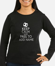 personalized Funny football keep calm soccer Long