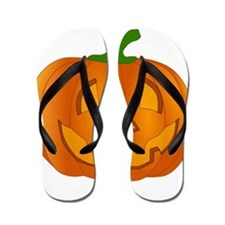 Halloween Jack-o-Lantern Pumpkin Flip Flops