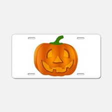 Halloween Jack-o-Lantern Pumpkin Aluminum License